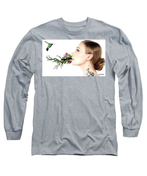 Happiness Is A State Of Mind Long Sleeve T-Shirt by Paulo Zerbato