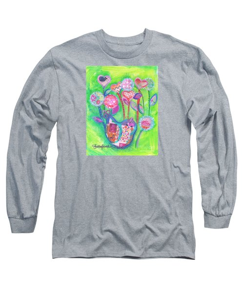 Happy Birthday Mindy Birdy Long Sleeve T-Shirt by Shelley Overton