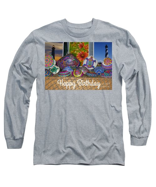 Happy Birthday Shells Long Sleeve T-Shirt