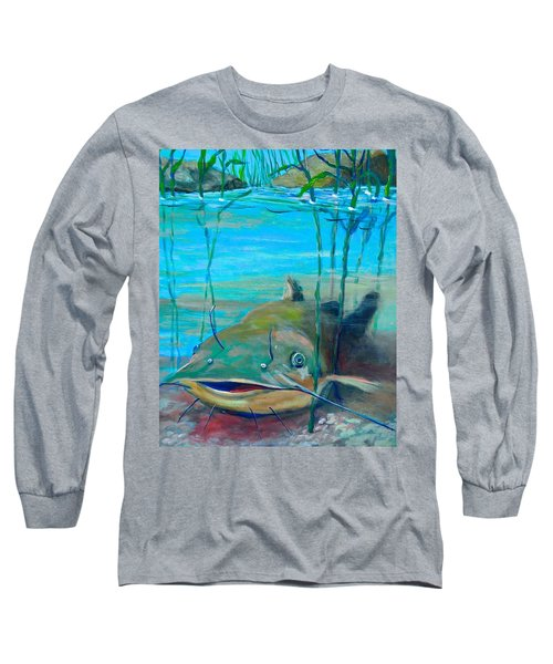 Happy Catfish Long Sleeve T-Shirt by Jeanette Jarmon