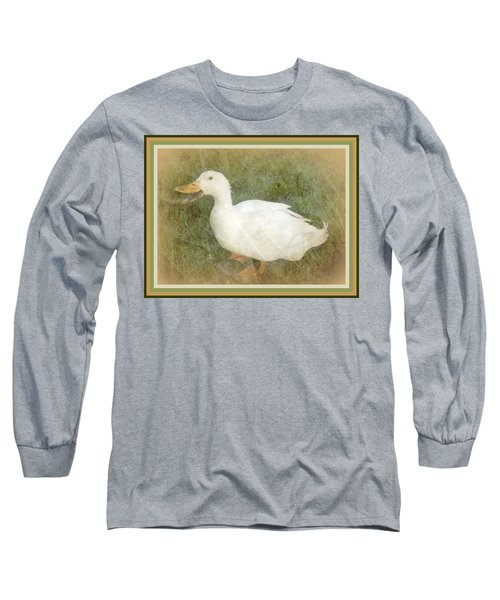 Long Sleeve T-Shirt featuring the photograph Happy Duck Portrait by Jodie Marie Anne Richardson Traugott          aka jm-ART