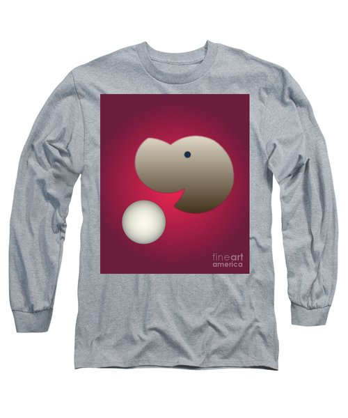 Long Sleeve T-Shirt featuring the digital art Happy by John Krakora
