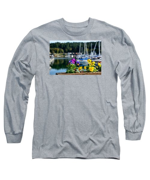 Long Sleeve T-Shirt featuring the photograph Happy Pansy by Tanya  Searcy