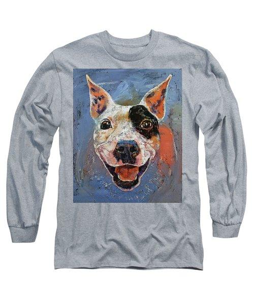 Happy Pitbull Long Sleeve T-Shirt