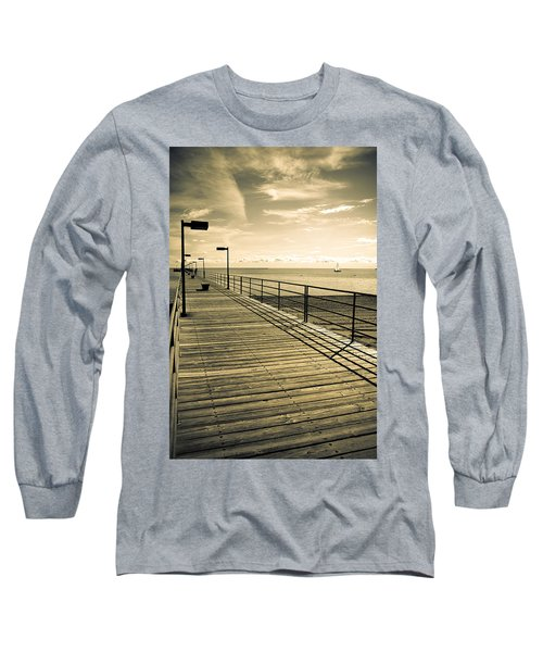 Harbor Beach Michigan Boardwalk Long Sleeve T-Shirt