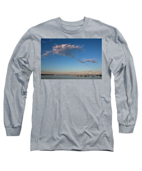 Harbor In Lincolnville,maine Long Sleeve T-Shirt by Diane Diederich