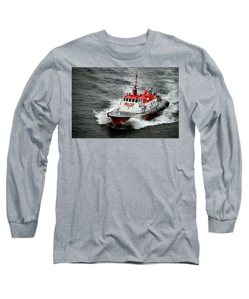 Long Sleeve T-Shirt featuring the photograph Harbor Master Pilot by Allen Carroll