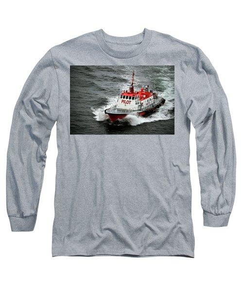 Harbor Master Pilot Long Sleeve T-Shirt by Allen Carroll