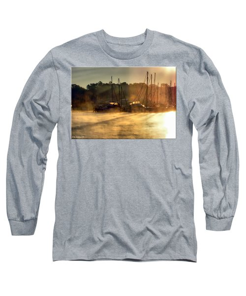 Long Sleeve T-Shirt featuring the photograph Harbor Mist by Brian Wallace
