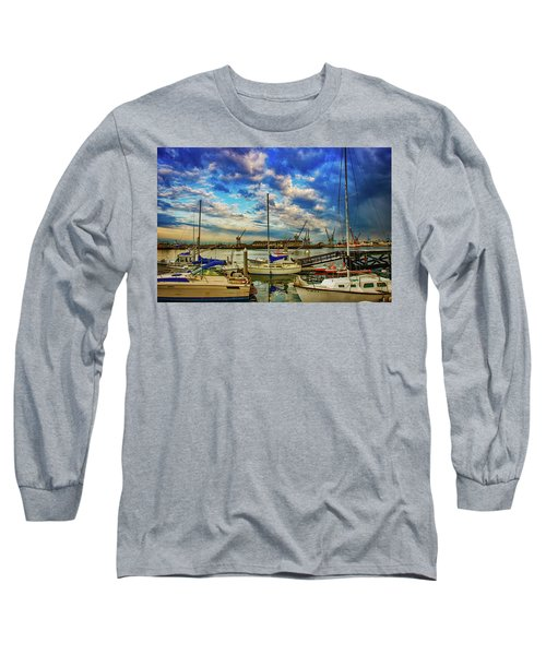 Harbor Scene Long Sleeve T-Shirt