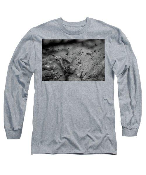 Harbor Seal Pup Monochrome  Long Sleeve T-Shirt