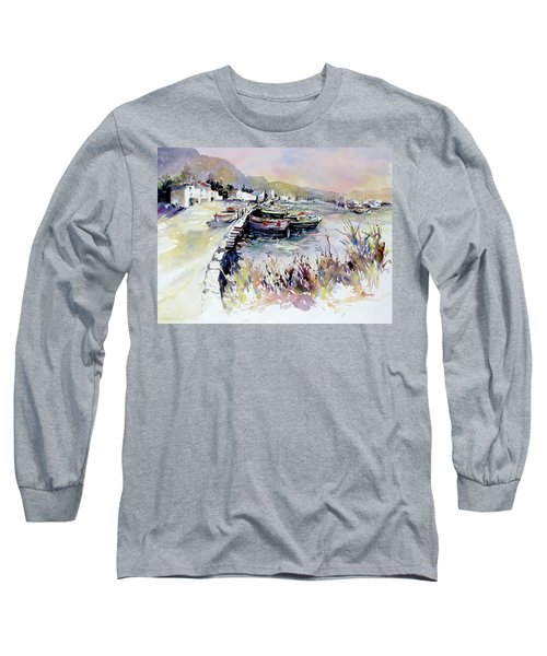 Harbor Shapes Long Sleeve T-Shirt by Rae Andrews