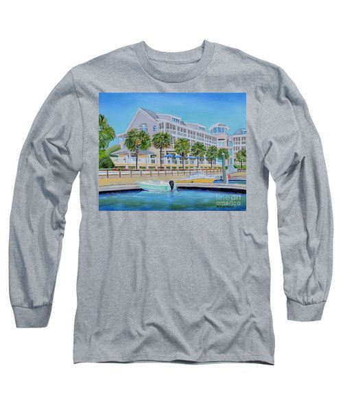 Harborside Marina Long Sleeve T-Shirt by Shelia Kempf