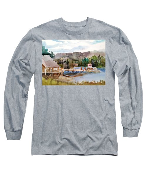 Harbour Scene Long Sleeve T-Shirt by Larry Hamilton