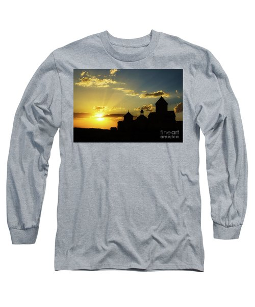 Harichavank Monastery At Sunset, Armenia Long Sleeve T-Shirt