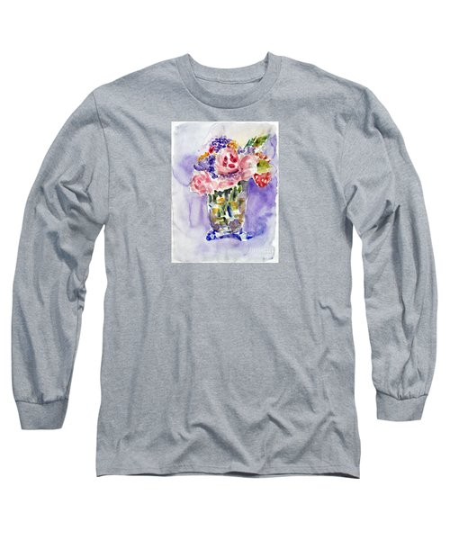 Harlequin Or Bright Side Of Life Long Sleeve T-Shirt by Jasna Dragun
