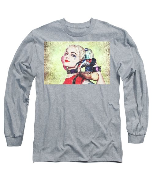 Harley Is A Crazy Woman Long Sleeve T-Shirt by Anton Kalinichev