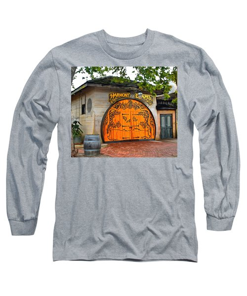 Long Sleeve T-Shirt featuring the photograph Harmony Chapel Harmony California by Barbara Snyder