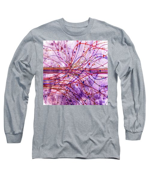 Long Sleeve T-Shirt featuring the digital art Harnessing Energy 2 by Angelina Vick