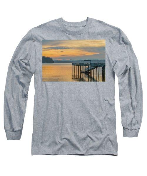 #harper Pier In The Morning Light Long Sleeve T-Shirt