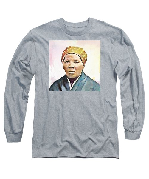 Harriet Tubman Long Sleeve T-Shirt by Wayne Pascall