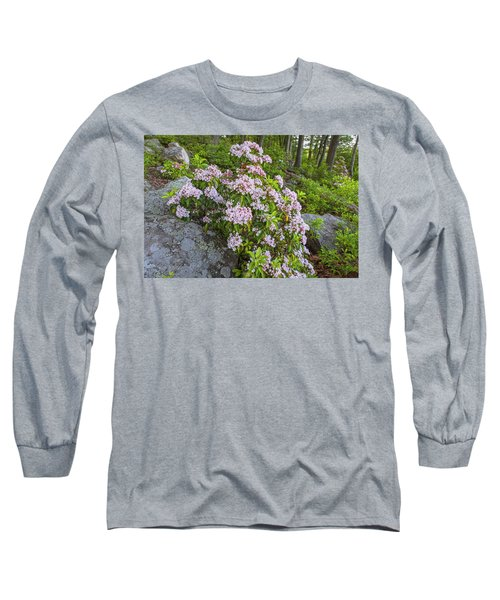 Harriman Pink And White Mountain Laurel Long Sleeve T-Shirt