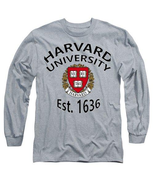 Harvard University Est 1636 Long Sleeve T-Shirt by Movie Poster Prints