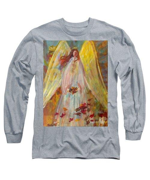 Harvest Autumn Angel Long Sleeve T-Shirt