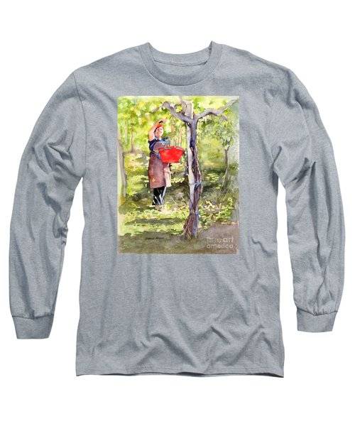 Harvesting Anna's Grapes Long Sleeve T-Shirt