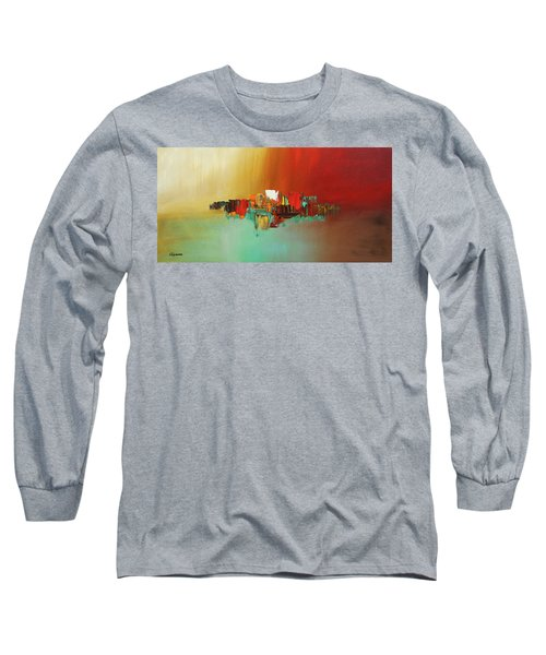 Long Sleeve T-Shirt featuring the painting Hashtag Happy - Abstract Art by Carmen Guedez