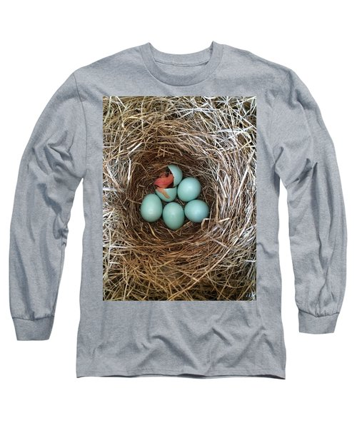 Hatched Long Sleeve T-Shirt