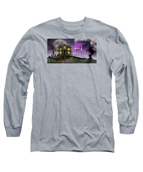 Haunted Halloween Long Sleeve T-Shirt