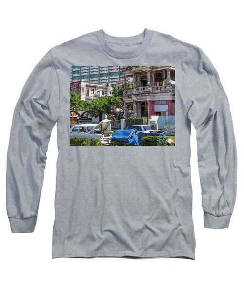 Havana Cuba Long Sleeve T-Shirt by Charles Harden