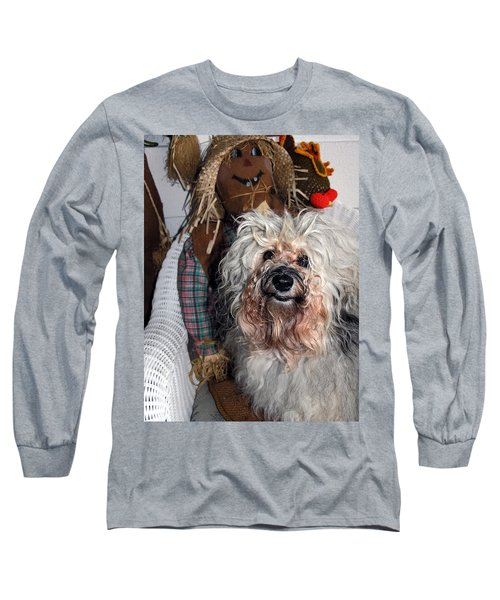 Long Sleeve T-Shirt featuring the photograph Havanese Cutie by Sally Weigand
