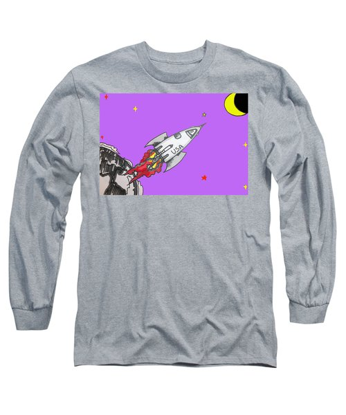 Have Spacesuit Will Travel Long Sleeve T-Shirt by Robert Margetts