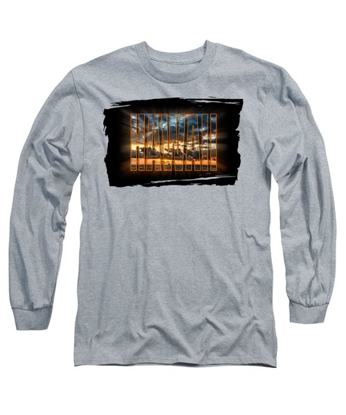 Hawaii Sunset Long Sleeve T-Shirt by David Lawson