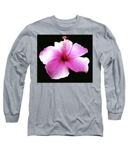 Hawaiian  Hibiscus Flower Long Sleeve T-Shirt