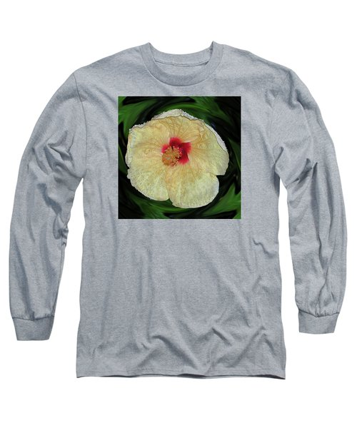 Hawaiian Hybiscus Long Sleeve T-Shirt