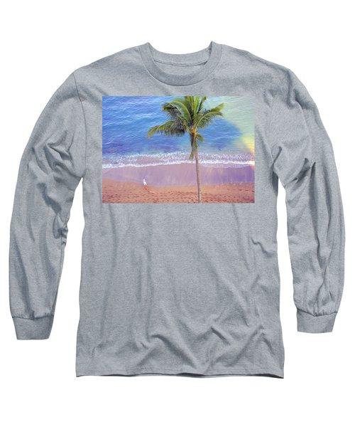 Hawaiian Morning Long Sleeve T-Shirt by Kathy Bassett