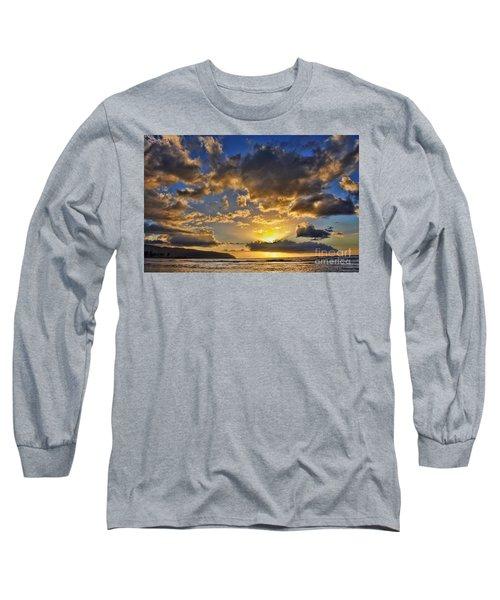 Long Sleeve T-Shirt featuring the photograph Hawaiian Sunset by Gina Savage
