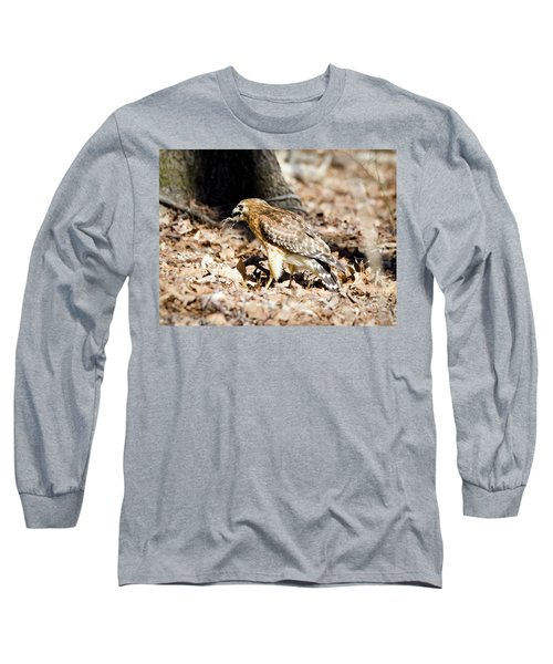 Long Sleeve T-Shirt featuring the photograph Hawk And Gecko by George Randy Bass