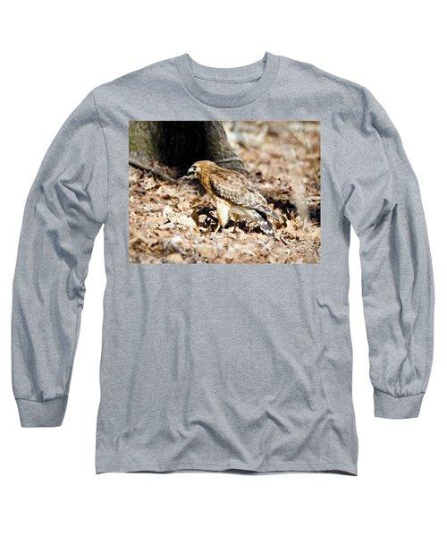 Hawk And Gecko Long Sleeve T-Shirt by George Randy Bass