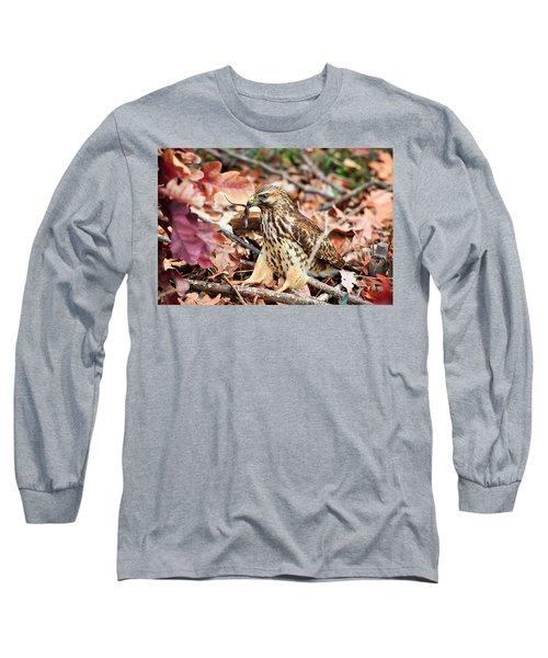 Hawk Catches Prey Long Sleeve T-Shirt