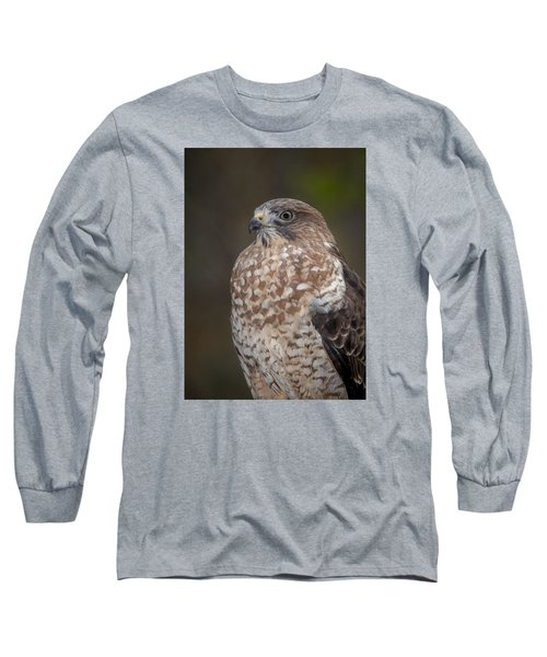 Long Sleeve T-Shirt featuring the photograph Hawk by Tyson and Kathy Smith