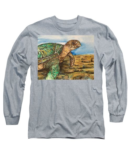 Hawkbilled Sea Turtle Long Sleeve T-Shirt
