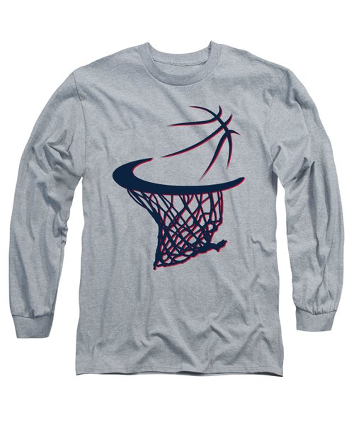 Hawks Basketball Hoop Long Sleeve T-Shirt by Joe Hamilton