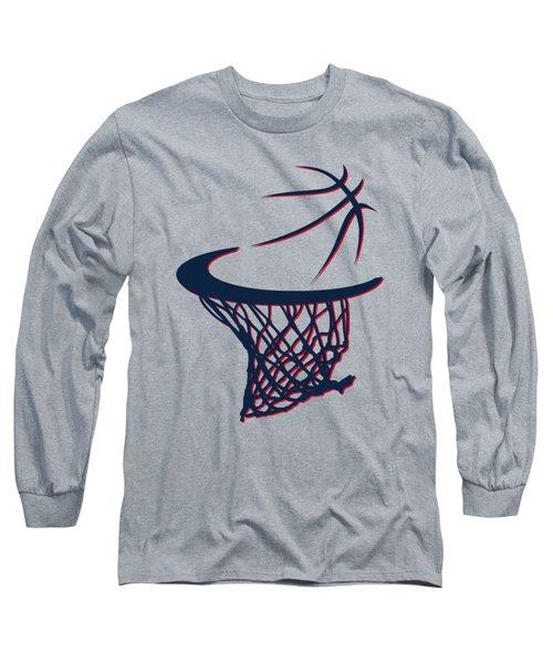 Hawks Basketball Hoop Long Sleeve T-Shirt