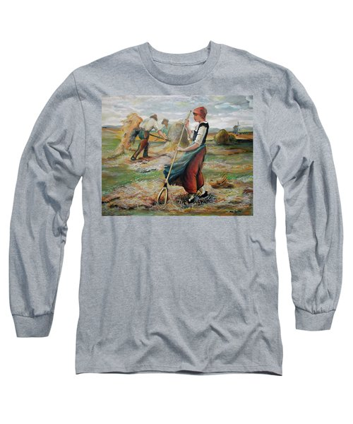 Hay Field Workers Long Sleeve T-Shirt