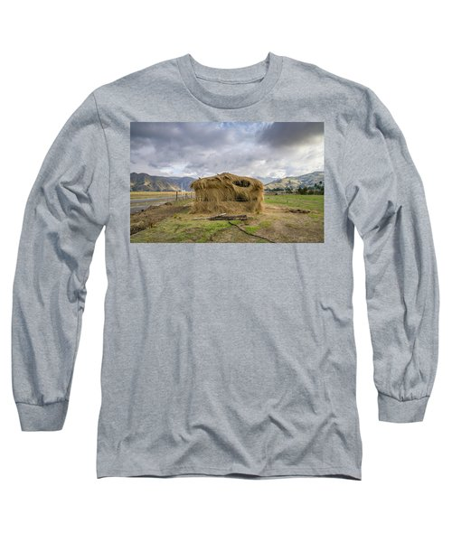 Hay Hut In Andes Long Sleeve T-Shirt