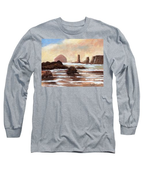 Hay Stack Reef Long Sleeve T-Shirt by Randy Sprout